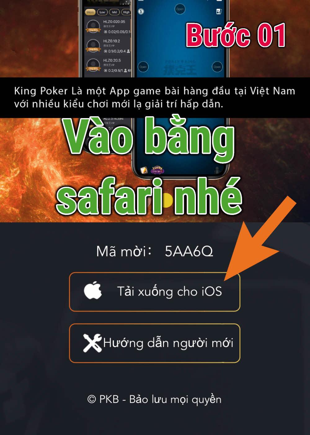 Poker King cài đặt